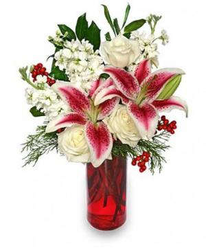 Holiday Beauty Arrangement in Fresno, CA | FLOWERS AND MORE