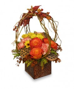LEAVES OF AUTUMN Flower Arrangement