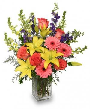Spring Blush Bouquet Floral Arrangement in Bowie, TX | A COTTAGE FLORIST & GIFTS