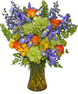 FLORAL STUNNER Bouquet of Flowers in Michigan City, IN | WRIGHT'S FLOWERS AND GIFTS INC.