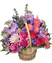 Sweetly Spring Basket Flower Arrangement in Crestview, Florida | FLORAL DESIGNS