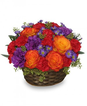 YOU MAKE LIFE GRAND Basket Arrangement in Nassawadox, VA | Florist By The Sea