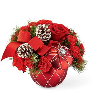 FTD 2020 Holiday Ornament Floral Arrangement