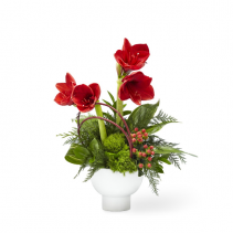 FTD STRIKING ELEGANCE  CHRISTMAS CENTERPIECE