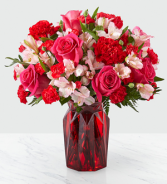FTD Adore You Bouquet Vased Arrangement