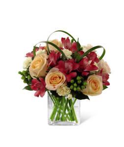 FTD All Aglow Bouquet Vase Arrangement