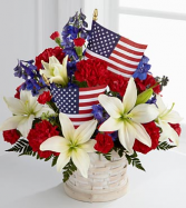 American Glory Fresh Basket Arrangement