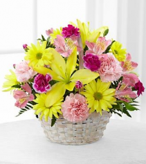 FTD Basket of Cheer  Floral Arrangement