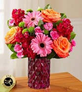 FTD Bejeweled Bouquet vase arrangement