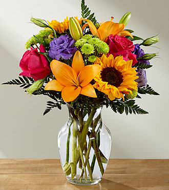 FTD Best Day Bouquet  Vase arrangement
