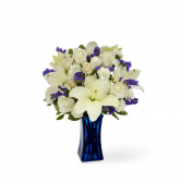 FTD-Beyond Blue™ Bouquet - Blue & White Vase Bouquet