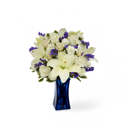 Beyond Blue™ Bouquet - Blue & White Vase Bouquet