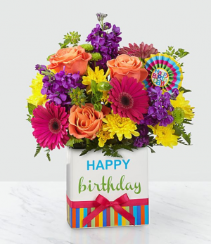 FTD Birthday Brights Bouquet Birthday in Tulsa, OK | Absolutely Flowers & Tulsa Gift Baskets