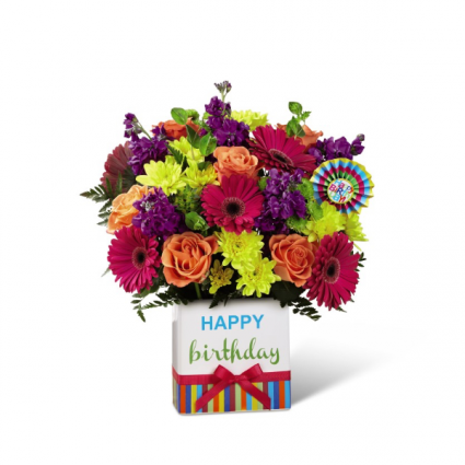 Birthday Brights™ Bouquet Vase Bouquet