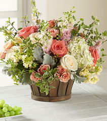 Bountiful Garden Basket Fresh Arrangement