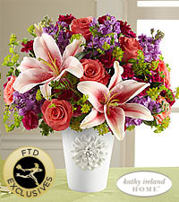 FTD California Chic Bouquet by Kathy Ireland Home Vased Fresh Flowers