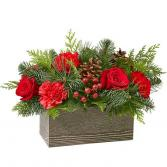 The FTD® Christmas Cabin Bouquet Table Arrangement