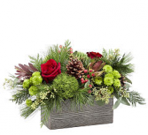 FTD Christmas Cabin Centerpiece