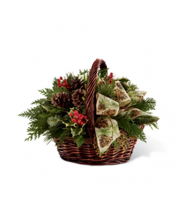 FTD Christmas Coziness Wintergreen Basket