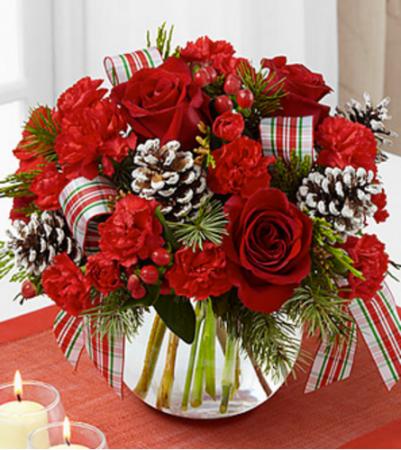 FTD Christmas Peace Bouquet Vase Arrangement
