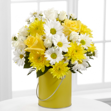 FTD Color Your Day With Sunshine Vased Arrangement