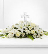Eternal Light Crystal Cross Sympathy Arrangement