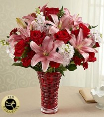 Lasting Romance Bouquet Vase Arrangement