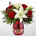FTD Festive Holiday Bouquet by Vera Wang