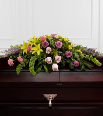 FTD Forever Blessed casket spray  Funeral Flowers