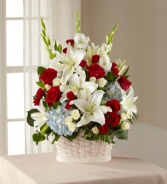 Greater Glory Basket Fresh Arrangement