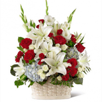 FTD Greater Glory Basket Patriotic Flowers