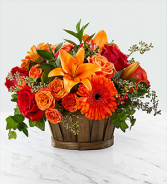 FTD Harvest Memories Basket  Fall arrangement