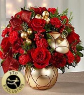 FTD Holiday Delights Bouquet Fresh Flowers in container
