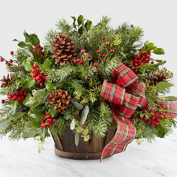 The FTD Holiday Homecomings™ Basket  Arrangement