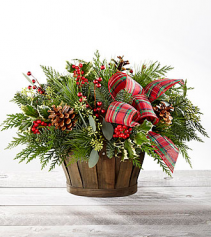 FTD Holiday Homecomings Christmas arrangement