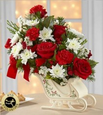 FTD® Holiday Traditions Sleigh™ Bouquet  14C-4D