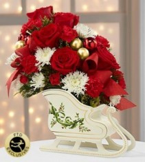 FTD Holiday Traditions Sleigh Holiday Arrangement