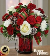 FTD Holiday Wishes Bouquet by Better Homes  Vased Fresh Flowers