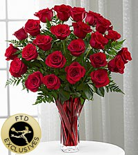 FTD In Love With Red Vased Roses