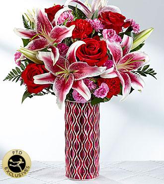 FTD Lasting Romance Mosaic Vase