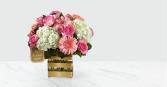FTD Love Bouqut Hallmark Gold Vase