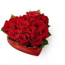 FTD Lovely Red Rose Heart Box - 20-V6R