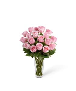 FTD Pastel Pink Roses Vase Arrangement
