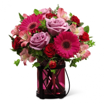 FTD Pink Exuberance Vased Arrangement