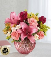 FTD Pink Poise Bouquet Vase arrangement