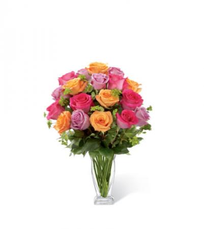 FTD Pure Enchantment Rose Bouquet Vase Arrangement