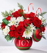 FTD Seasons Greetings Mixed Flowers Holiday Colors