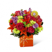 FTD-Set to Celebrate™ Birthday Bouquet Vase Bouquet