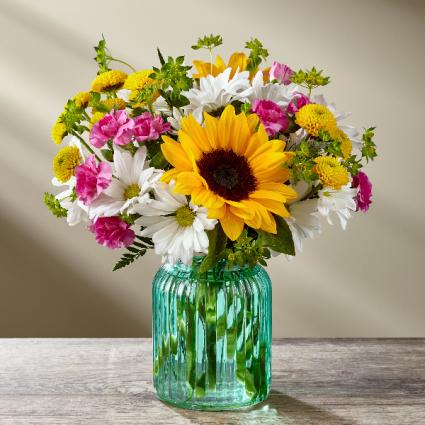 FTD Sunlit Meadow Vase arrangement