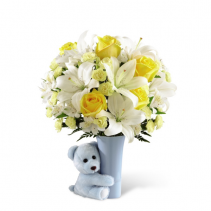 FTD-The Baby Boy Big Hug® Bouquet Vase Bouquet